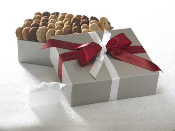 image on page for  Chocolate Chip Cookie  / perceived to contain Gift, Chocolate, Dessert, Food, Furniture, Paper