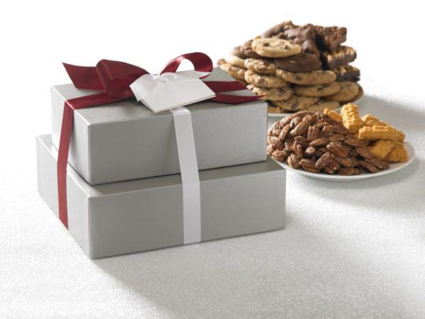 Silver Elegance Cookie Brownie Gift Large