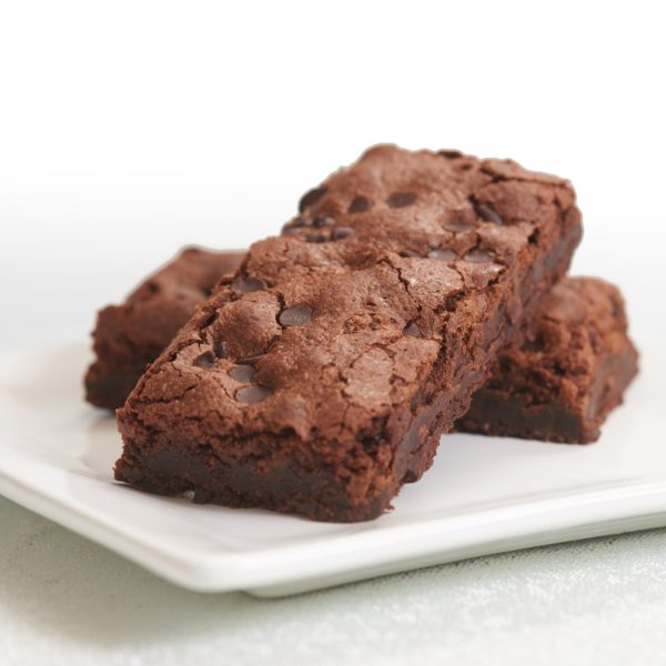 image on page for  Espresso Chocolate Chip Brownie  / perceived to contain Biscuit, Brownie, Chocolate, Cookie, Dessert, Food, Fudge