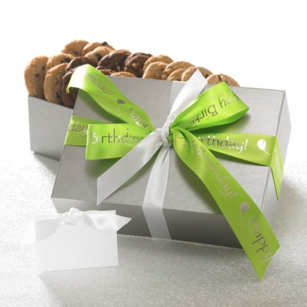 image on page for  Happy Birthday 24 Count Cookie Gift  / perceived to contain Gift, Paper
