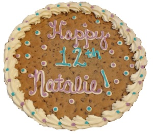 image on page for  Cookie Cake  / perceived to contain Biscuit, Cookie, Food, Cake, Cream, Creme, Dessert, Icing