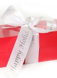 Gold or Red Happy Holidays 42 ct Cookie Gift