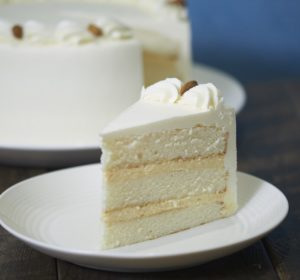 image on page for  Italian Cream Cake  / perceived to contain Butter, Food, Dessert, Cream, Creme, Cake, Icing, Whipped Cream, Torte