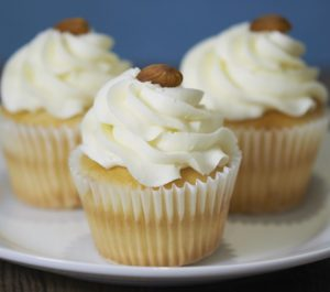 image on page for  Italian Cream Cupcake  / perceived to contain Cake, Cream, Creme, Cupcake, Dessert, Food, Icing, Custard, Bread, Muffin