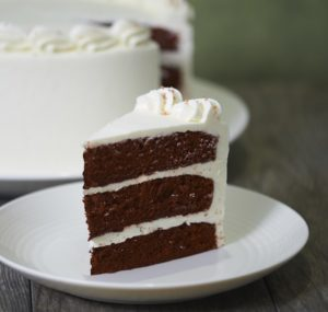 image on page for  Red Velvet Cake  / perceived to contain Dessert, Food, Cake, Torte, Cream, Creme, Icing