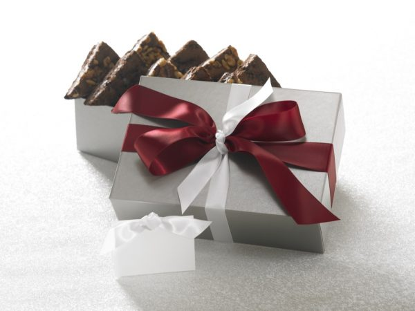image on page for  Chocolate Walnut Brownie  / perceived to contain Gift, Animal, Cattle, Cow, Mammal, Paper, Bowl, Art, Origami, Accessories