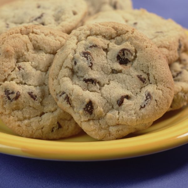 image on page for  Chocolate Chip Cookie  / perceived to contain Biscuit, Cookie, Food, Cream, Creme, Dessert