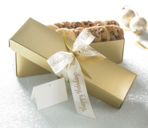 Happy Holidays Gold 24 ct Cookie Gift