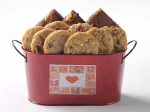 Heart Tin Cookie and Brownie Gift