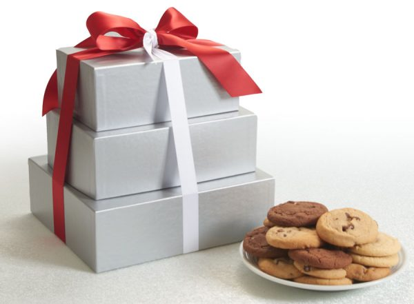 Silver Elegance Cookie Gift Towers ($77.75 up to $111.75)