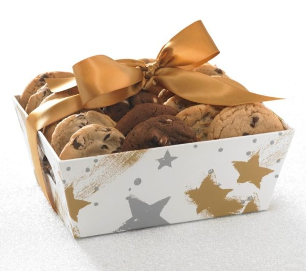 image on page for  You're a Star 24 ct Cookie Tray  / perceived to contain Chocolate, Dessert, Food, Spa, Gift, Clothing, Lingerie, Underwear, Bowl, Aircraft, Airplane, Transportation, Envelope, Greeting Card, Mail, Flora, Fungus, Mushroom, Plant, Peanut Butter, Cream, Creme, Hat