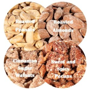 Image perceived to contain Food, Snack, Flora, Grain, Nut, Plant, Produce, Seed, Vegetable, Confectionery, Sweets on the Nuts About Pecans - Cornerstone Cookie Gifts page