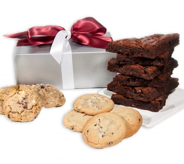 Silver Elegance Cookie and Brownie Gift