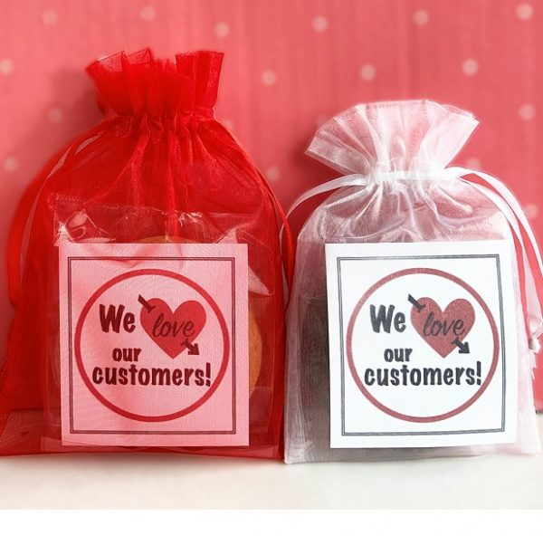 image on page for    / perceived to contain We love We love customers! our customers! our Sweets, Food, Confectionery, Meal, Bag, Cushion, Pillow, Dish, Plastic, Plastic Bag, Sack, Soap