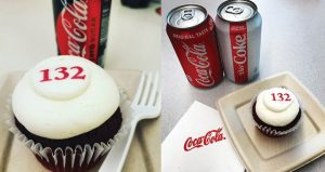 Image perceived to contain Gea 132 I Beverage, Coke, Drink, Cake, Cream, Creme, Cupcake, Dessert, Food, Icing, Whipped Cream, Aluminium, Can, Tin on the Cake & Cupcake Gifts Archives - Cornerstone Cookie Gifts page