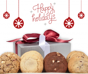 Image perceived to contain Cookie, Food, Biscuit, Confectionery, Sweets, Plant, Shop, Bakery, Dessert on the Blog - Cornerstone Cookie Gifts page