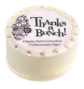 Image perceived to contain ThAnks a Bunch! Happy Professionals Administrative Dayl Food, Birthday Cake, Cake, Dessert on the Cookie & Brownie Gifts Archives - Cornerstone Cookie Gifts page